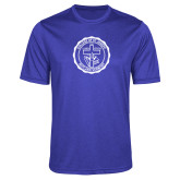 Performance Royal Heather Contender Tee-College Seal