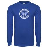 Royal Long Sleeve T Shirt-College Seal
