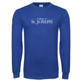 Royal Long Sleeve T Shirt-College of St. Joseph