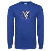 Royal Long Sleeve T Shirt-Fighting Saints Distressed