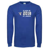 Royal Long Sleeve T Shirt-Class of 2, Personalized year