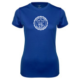 Ladies Syntrel Performance Royal Tee-College Seal