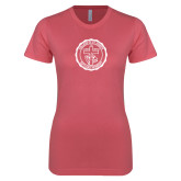 Next Level Ladies SoftStyle Junior Fitted Pink Tee-College Seal