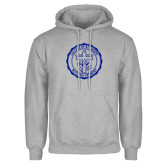 Grey Fleece Hoodie-College Seal