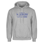 Grey Fleece Hoodie-College of St. Joseph with Slogan