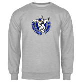Grey Fleece Crew-Fighting Saints