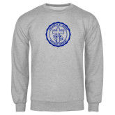 Grey Fleece Crew-College Seal