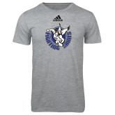 Adidas Sport Grey Logo T Shirt-Fighting Saints