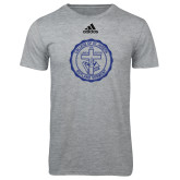 Adidas Sport Grey Logo T Shirt-College Seal