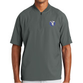 New Era Charcoal Cage Short Sleeve 1/4 Zip-Fighting Saints