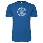 Next Level SoftStyle Royal T Shirt-College Seal