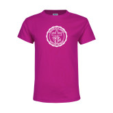 Youth Cyber Pink T Shirt-College Seal