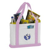 Contender White/Pink Canvas Tote-Fighting Saints