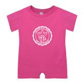 Bubble Gum Pink Infant Romper-College Seal