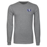 Grey Long Sleeve T Shirt-Fighting Saints
