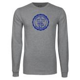 Grey Long Sleeve T Shirt-College Seal