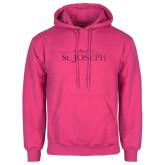 Fuchsia Fleece Hoodie-College of St. Joseph Foil