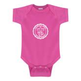 Fuchsia Infant Onesie-College Seal