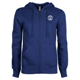 ENZA Ladies Royal Fleece Full Zip Hoodie-College Seal