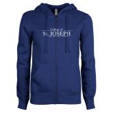 ENZA Ladies Royal Fleece Full Zip Hoodie-College of St. Joseph Wordmark