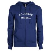 ENZA Ladies Royal Fleece Full Zip Hoodie-St. Joseph Baseball