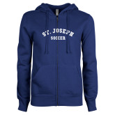 ENZA Ladies Royal Fleece Full Zip Hoodie-St. Joseph Soccer