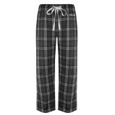 Black/Grey Flannel Pajama Pant-College of St. Joseph