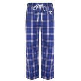 Royal/White Flannel Pajama Pant-Fighting Saints