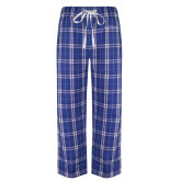 Royal/White Flannel Pajama Pant-College of St. Joseph