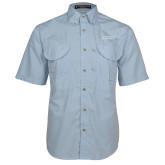 Light Blue Short Sleeve Performance Fishing Shirt-College of St. Joseph