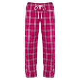 Ladies Dark Fuchsia/White Flannel Pajama Pant-College of St. Joseph