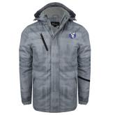 Grey Brushstroke Print Insulated Jacket-Fighting Saints