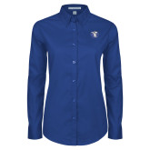 Ladies Royal Twill Button Down Long Sleeve-Fighting Saints