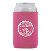 Neoprene Hot Pink Can Holder-College Seal