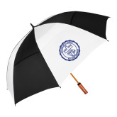 62 Inch Black/White Vented Umbrella-College Seal