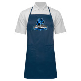 Full Length Navy Apron-Primary Logo