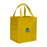 Non Woven Gold Grocery Tote-Primary Logo