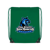 Kelly Green Drawstring Backpack-Primary Logo