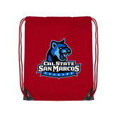 Red Drawstring Backpack-Primary Logo