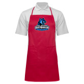 Full Length Red Apron-Primary Logo