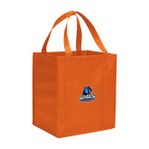 Non Woven Orange Grocery Tote-Primary Logo