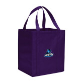 Non Woven Purple Grocery Tote-Primary Logo