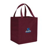 Non Woven Maroon Grocery Tote-Primary Logo
