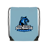 Light Blue Drawstring Backpack-Primary Logo