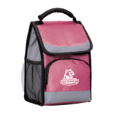 Passion Pink Flap Lunch Cooler-Primary Logo