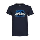 Youth Navy T Shirt-Secondary Logo