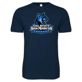 Next Level SoftStyle Navy T Shirt-Primary Logo