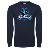 Navy Long Sleeve T Shirt-Primary Logo