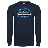 Navy Long Sleeve T Shirt-Secondary Logo