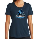 Ladies Syntrel Performance Navy Tee-Primary Logo